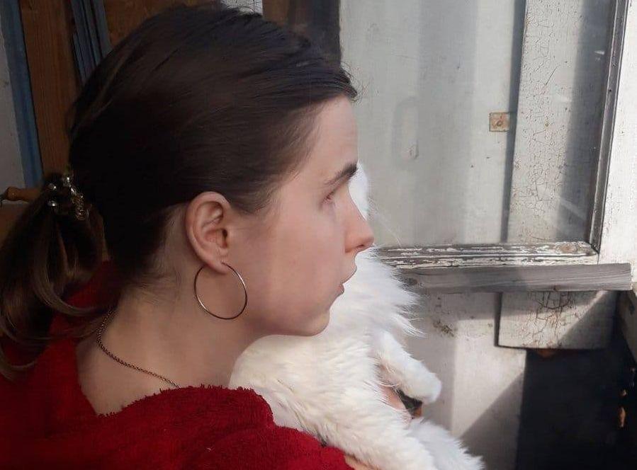 Влада Волощук с котом